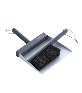 Brush and hand dustpan grey