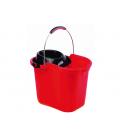 Bucket with metal handle