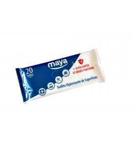Toallita higienzante desechable para todo tipo de superficies. Elimina virus, bacterias, levaduras, hongos y esporas.