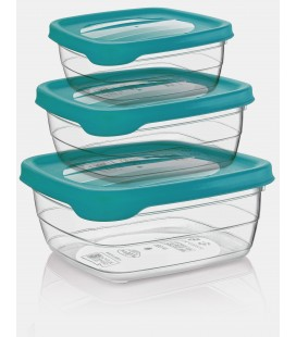 Set 3 Tuppers rectangulares Trend