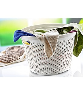 Rattan round laundry basket