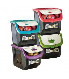 Caja almacenaje alimentos opaca con tapa